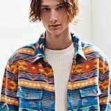 UO Jacquard Flannel Button-Down Shirt