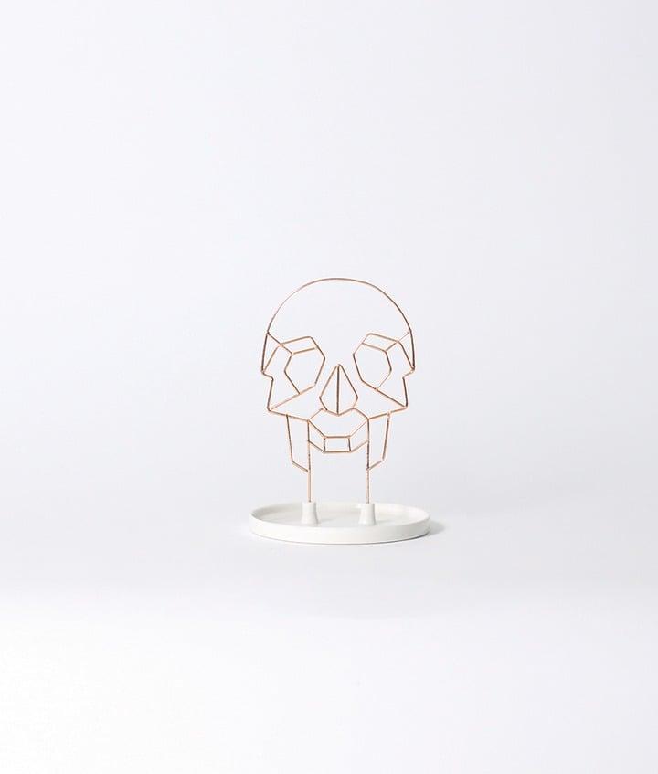 Coxet Wire Skull Ceramic Jewelry Holder ($33)