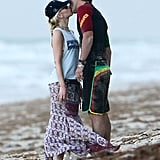 Gwen Stefani Kissing Gavin Rossdale on the Beach