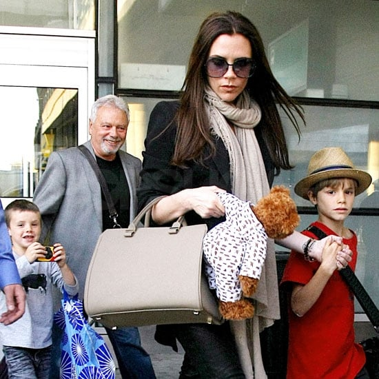 Victoria Beckham and Son at LAX After Royal Wedding