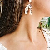 Aria Hammered Statement Earrings