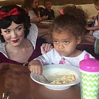Snow White Fails to Impress Toddler at Disney World