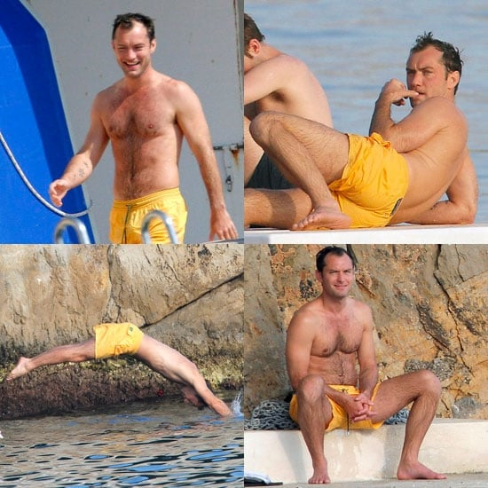 Jude Law Shirtless Pictures After the Cannes Film Festival