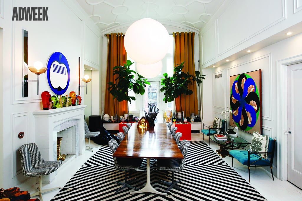 Their Stunning Dining Room Is Outfitted With A Statuesque Giant Lucite Hand  ($1,295) And