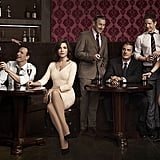 The Good Wife Five nominations total:  Outstanding supporting actress in a drama series, Christine Baranski Outstanding guest actor in a drama series, Nathan Lane Outstanding guest actor in a drama series, Michael J. Fox Outstanding guest actress in a drama series, Carrie Preston Outstanding casting for a drama series