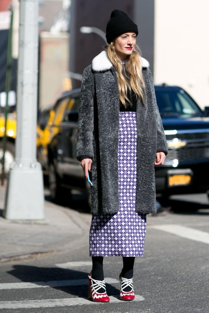 Kate Foley at Fashion Week Fall 2016