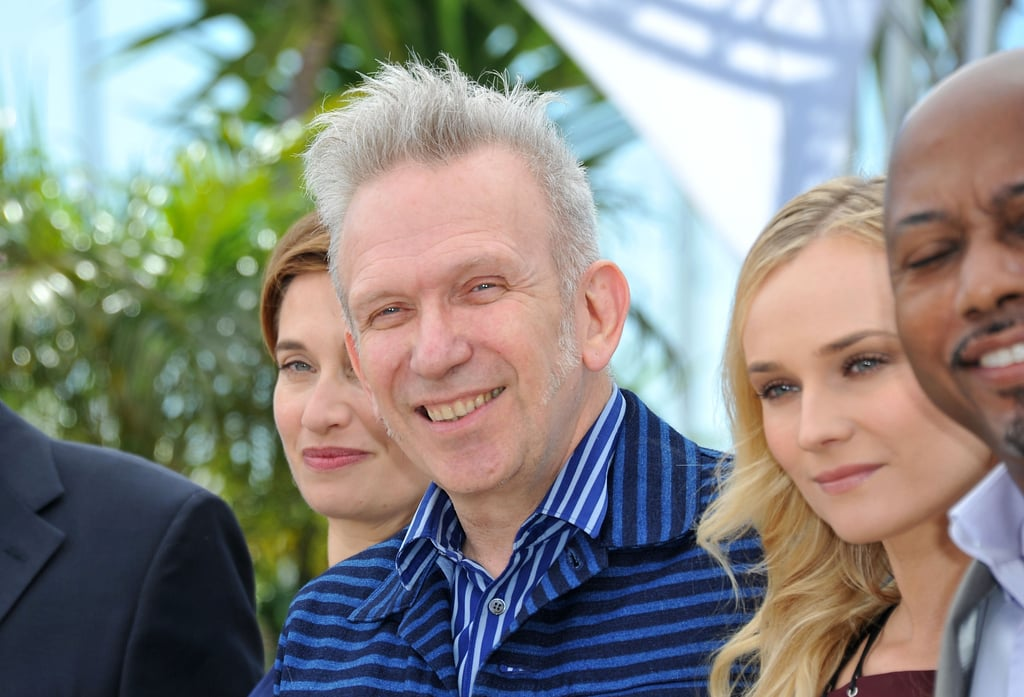 Jean Paul Gaultier and Diane Kruger posed together among other jurors at the photocall in Cannes.