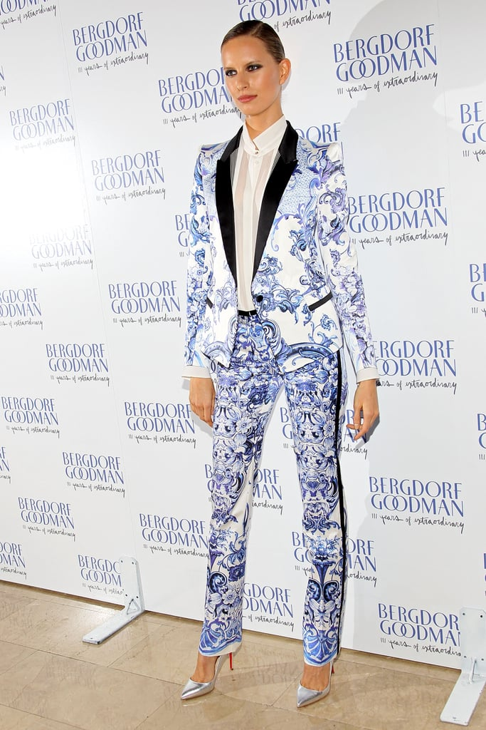 Karolina Kurkova stepped out in NYC for Bergdorf Goodman's 111th Anniversary Celebration.