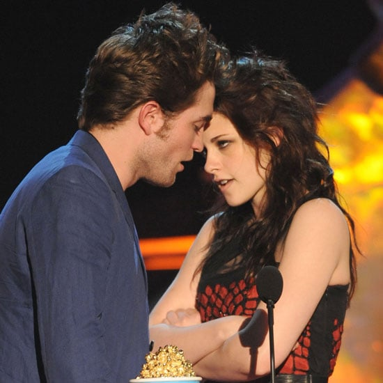 Sparks flew at the May 2009 MTV Movie Awards in LA when Robert Pattinson and Kristen Stewart accepted their best kiss award and came close to locking lips on stage.