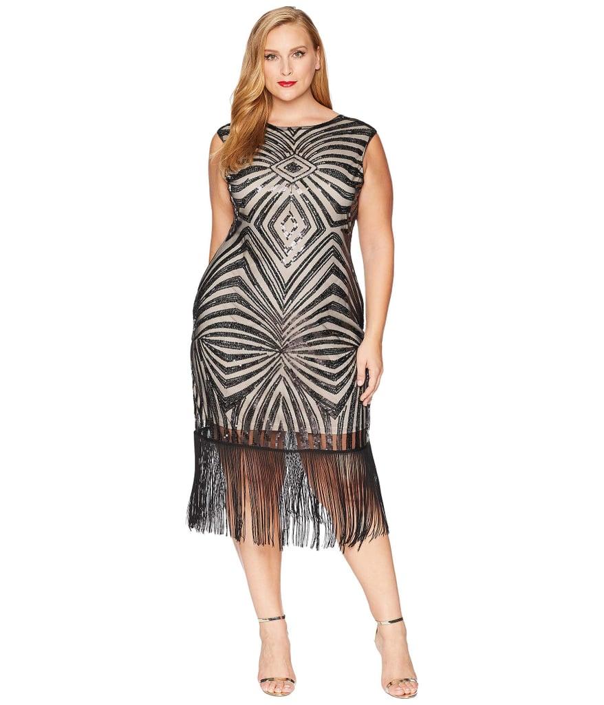 da2e875cf3e Unique Vintage Sequin   Fringe Sandrine Flapper Dress