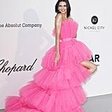 Kendall Jenner Giambattista Valli Pink Dress at Cannes 2019