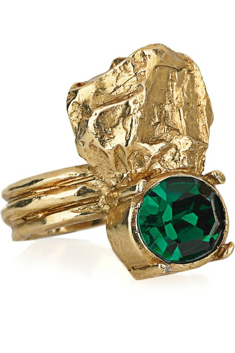 Yves Saint Laurent Arty Too 5-Karat Gold-Plated Swarovski Ring ($295)