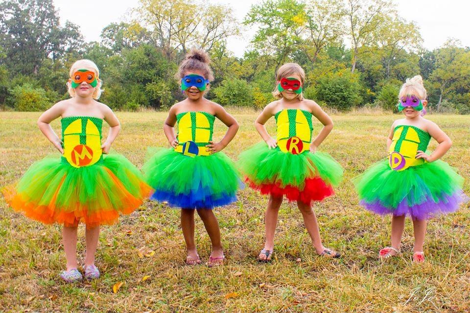 teenage mutant ninja turtle inspired halloween tutu dresses