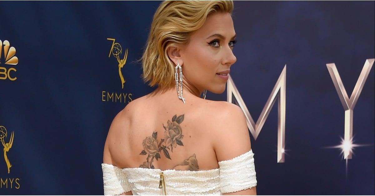 Scarlett Johansson's Back Tattoo | POPSUGAR Celebrity ...