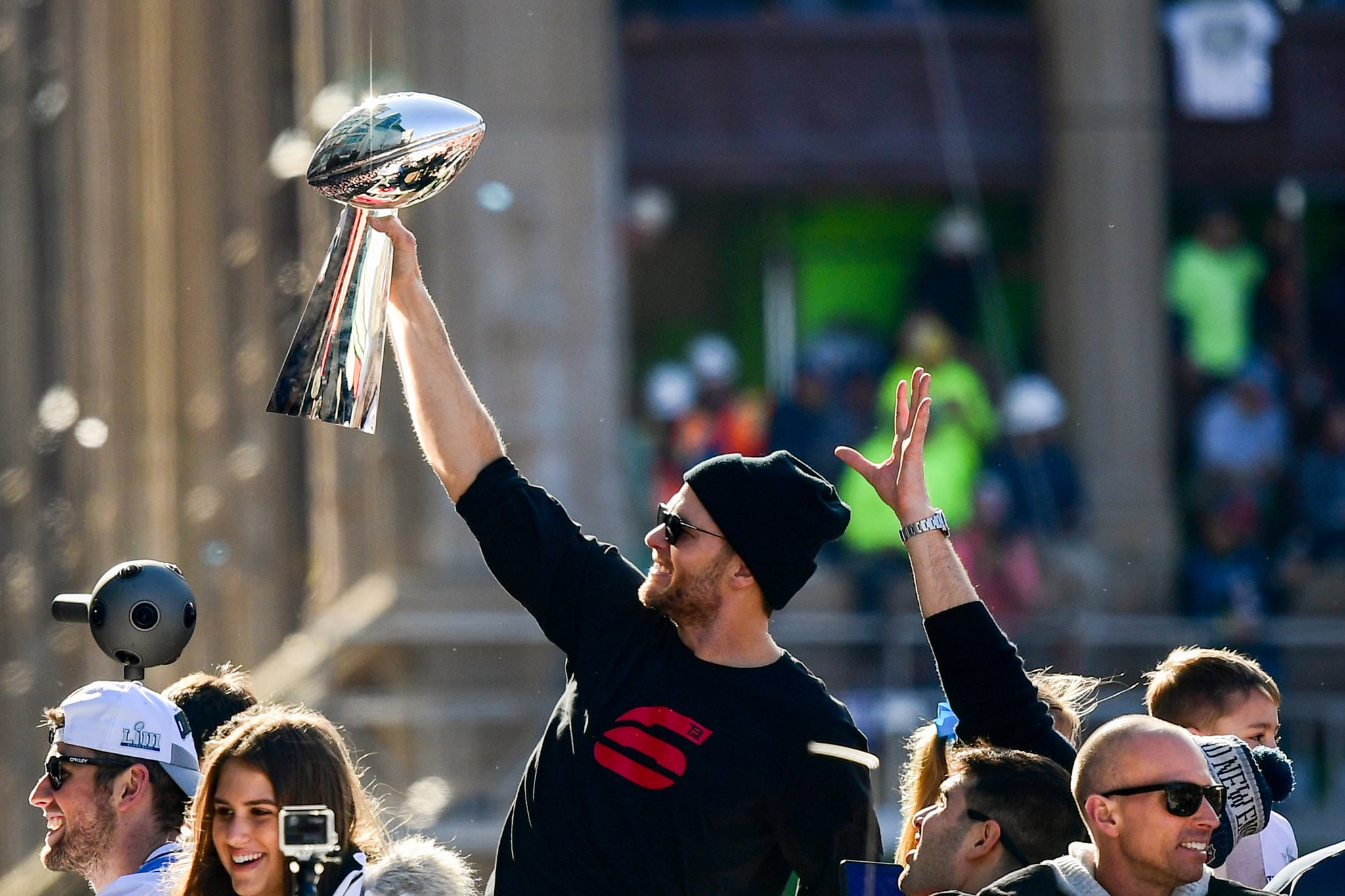 Celebrity & Entertainment   Tom Brady and His Adorable Kids Are the Real  MVPs of the Super Bowl Parade   POPSUGAR Celebrity Photo 21