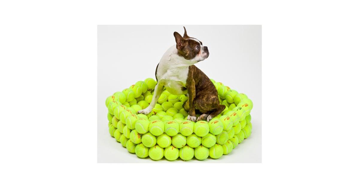 Dog bed made of tennis balls popsugar pets - Mattress made of balls ...