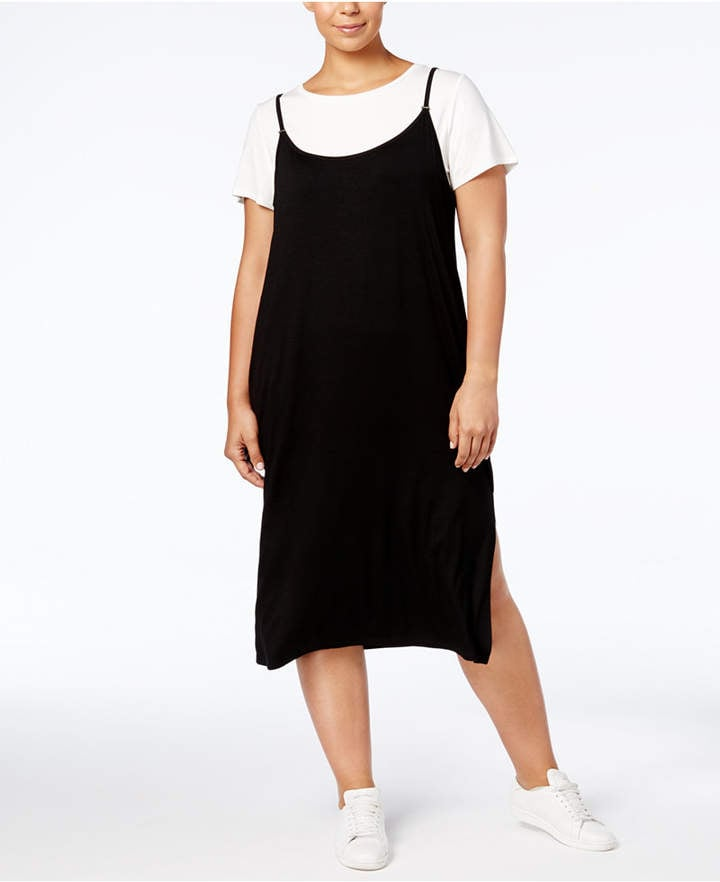 Calvin Klein T Shirt Slip Dress Miley Cyrus Black Slip Dress And