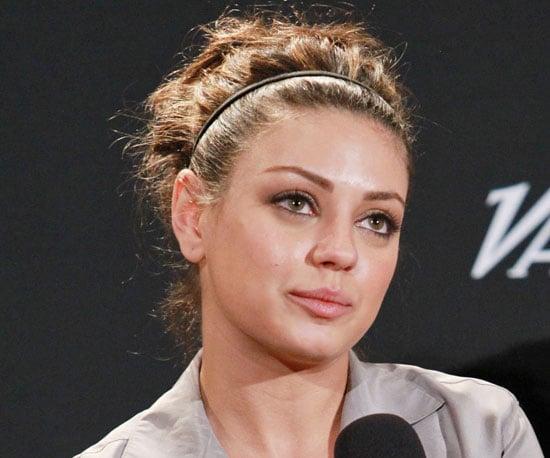 Mila kunis new pictures of celebrities wearing updo hairstyles mila kunis pmusecretfo Image collections