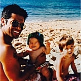 Kelly Ripa shared a sweet throwback photo of Mark Consuelos and their two oldest kids in honor of Father's Day.