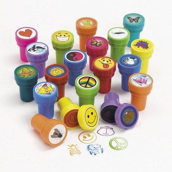 Assorted Plastic Stamps (50 for $32)