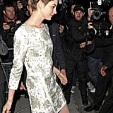 Anne Hathaway attended the London afterparty for The Dark Knight Rises .