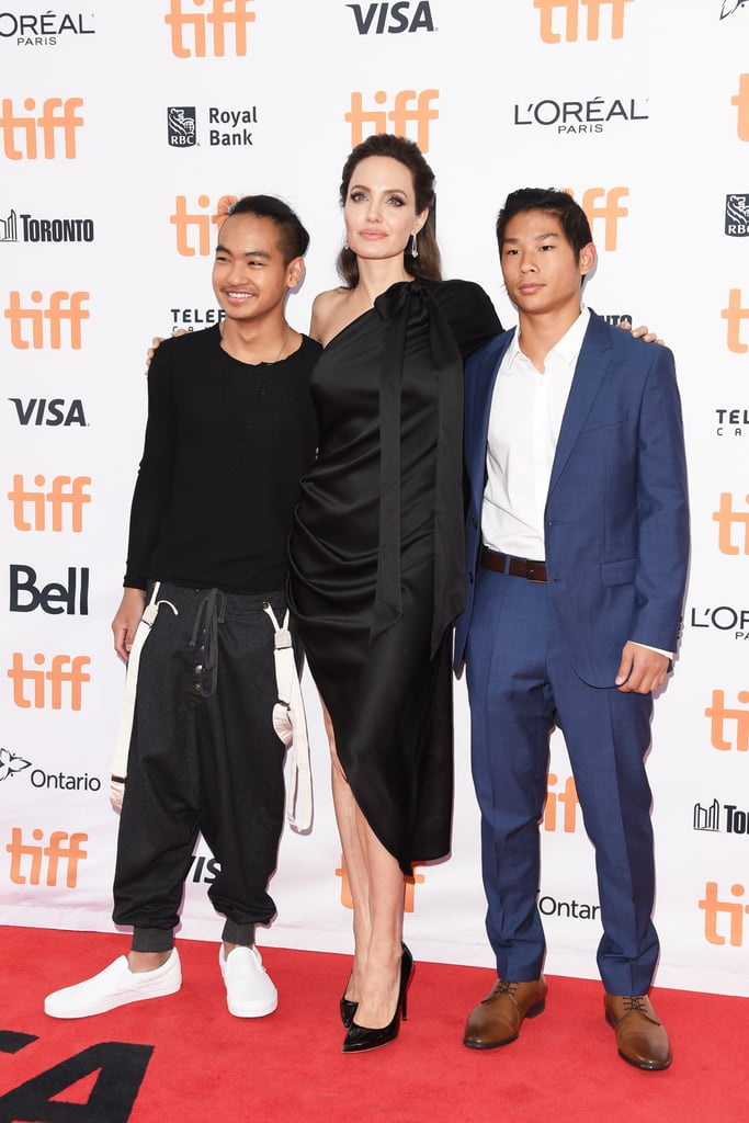 Angelina, Maddox, and Pax celebrated the premiere of their film First They Killed My Father at the Toronto Film Festival in 2017. Angelina directed the film, Maddox served as an executive producer, and Pax was an on-set photographer.