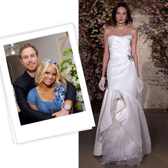 Jessica Simpson Wedding Gown: Jessica Simpson + Eric Johnson