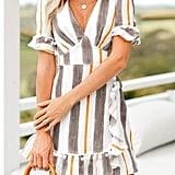 Simplee Striped Dress