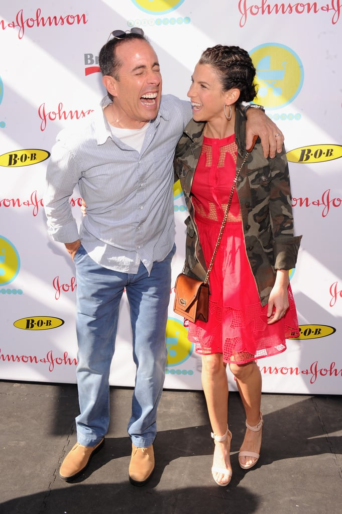 Jerry Seinfeld and Jessica Seinfeld had a laugh at the 2013 Baby Buggy Bedtime Bash.