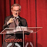 Steven Spielberg talked onstage at the NY Film Critics Circle Awards.