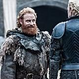 Kristofer Hivju as Tormund and Gwendoline Christie as Brienne