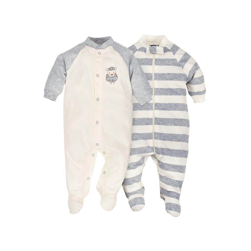 Newborn Organic Zip Front Sleep 'N Play Onesies