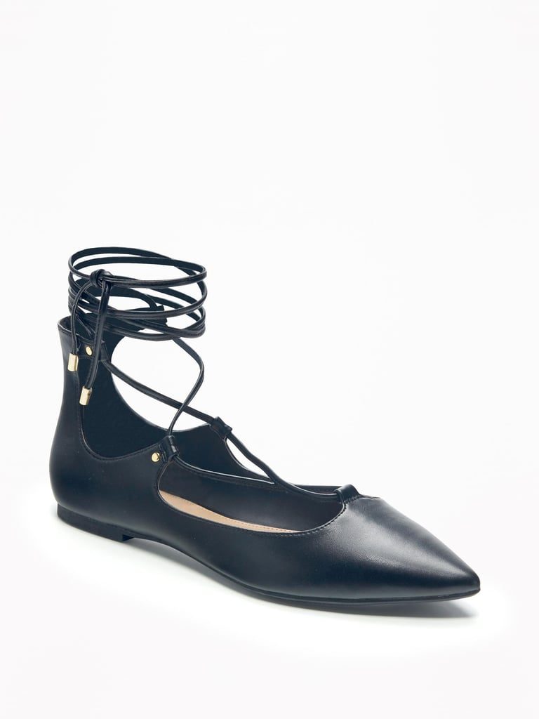 Lace-Up Flats to Give Your Outfit a Boost