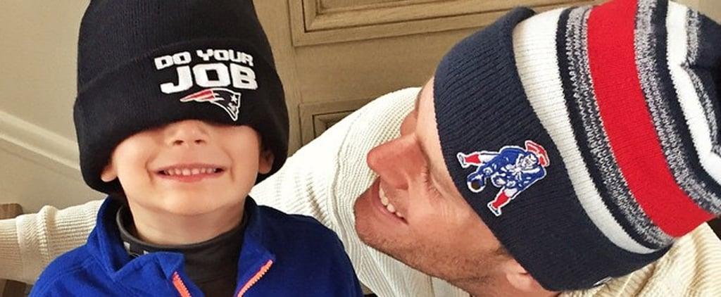 Tom Brady Parades Through Boston With His Son Ben