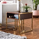 MoDRN Glam Marion Sleigh Base End Table