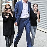 Mary-Kate Olsen hung out with boyfriend Olivier Sarkozy and his daughter.