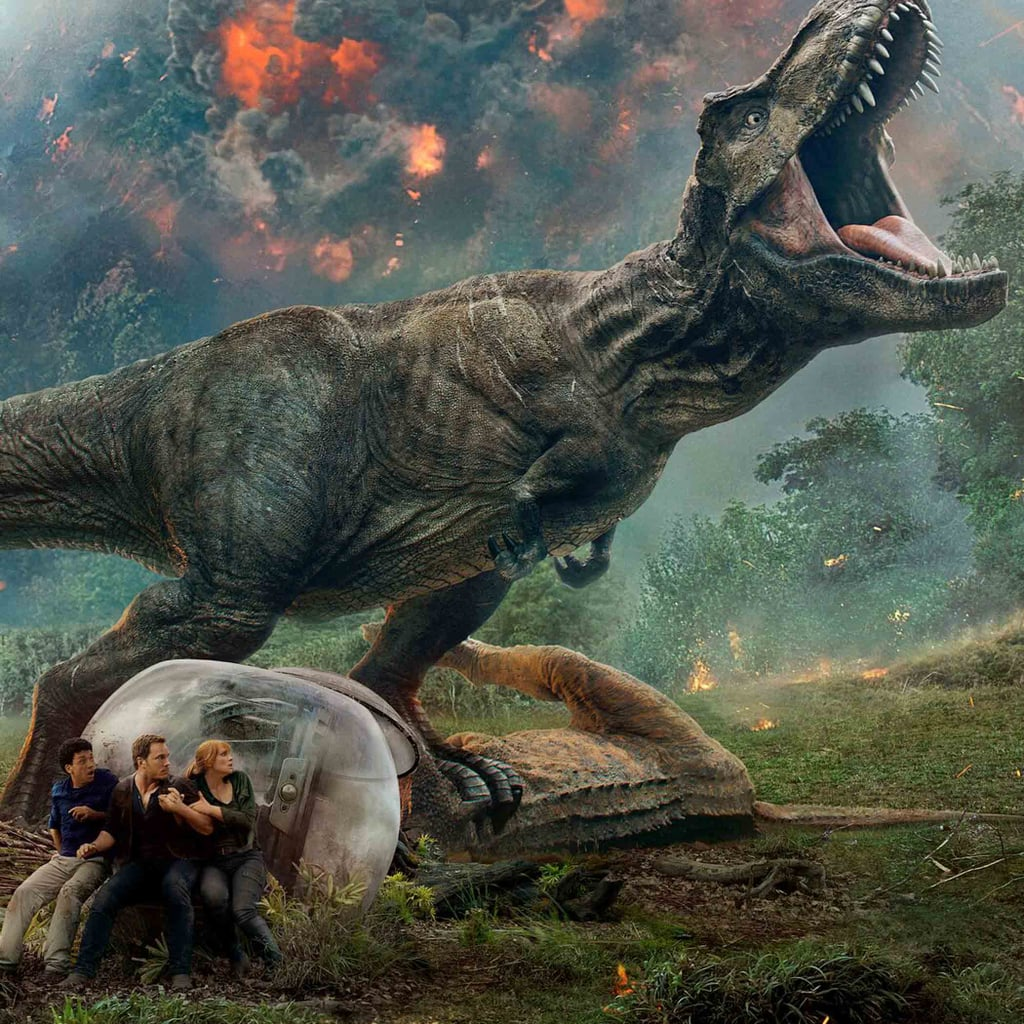 Any parent with a few dinosaur-obsessed kids milling around is already well-aware that Jurassic World: Fallen Kingdom is hitting theaters on June 22. And for fans who saw the original Jurassic World in theaters back in 2015, it should come as no surprise that the latest addition to the franchise doesn't exactly have the makings of a classic kids' movie.  That said, there are plenty of takeaways the older set can get from this flick — which, for the record, is rated PG-13 — ranging from the importance of conserving wildlife to seeing girls totally kick ass. But just to be clear, Jurassic World: Fallen Kingdom is packed with fast-paced action quite literally from the opening scene — and seeing it in IMAX makes it that much more realistic.      Related:                                                                                                           The New Trailer For Jurassic World: Fallen Kingdom Will Have You Screaming Until It Hurts               The second installment of the latest reboot pretty much picks up where Jurassic World left off, with dinosaurs fighting to survive on the volcanic island of Isla Nublar, and Owen (Chris Pratt) and Claire (Bryce Dallas Howard) are doing everything in their power to keep them alive. With the setting split between Isla Nublar and an enormous mansion owned by millionaire and Jurassic Park founder, Benjamin Lockwood (James Cromwell), viewers are taken on a wild ride packed with adventure and, of course, dinosaurs.  Thinking about bringing your younger kids to check it out? Here's what you should know before hitting the theater.