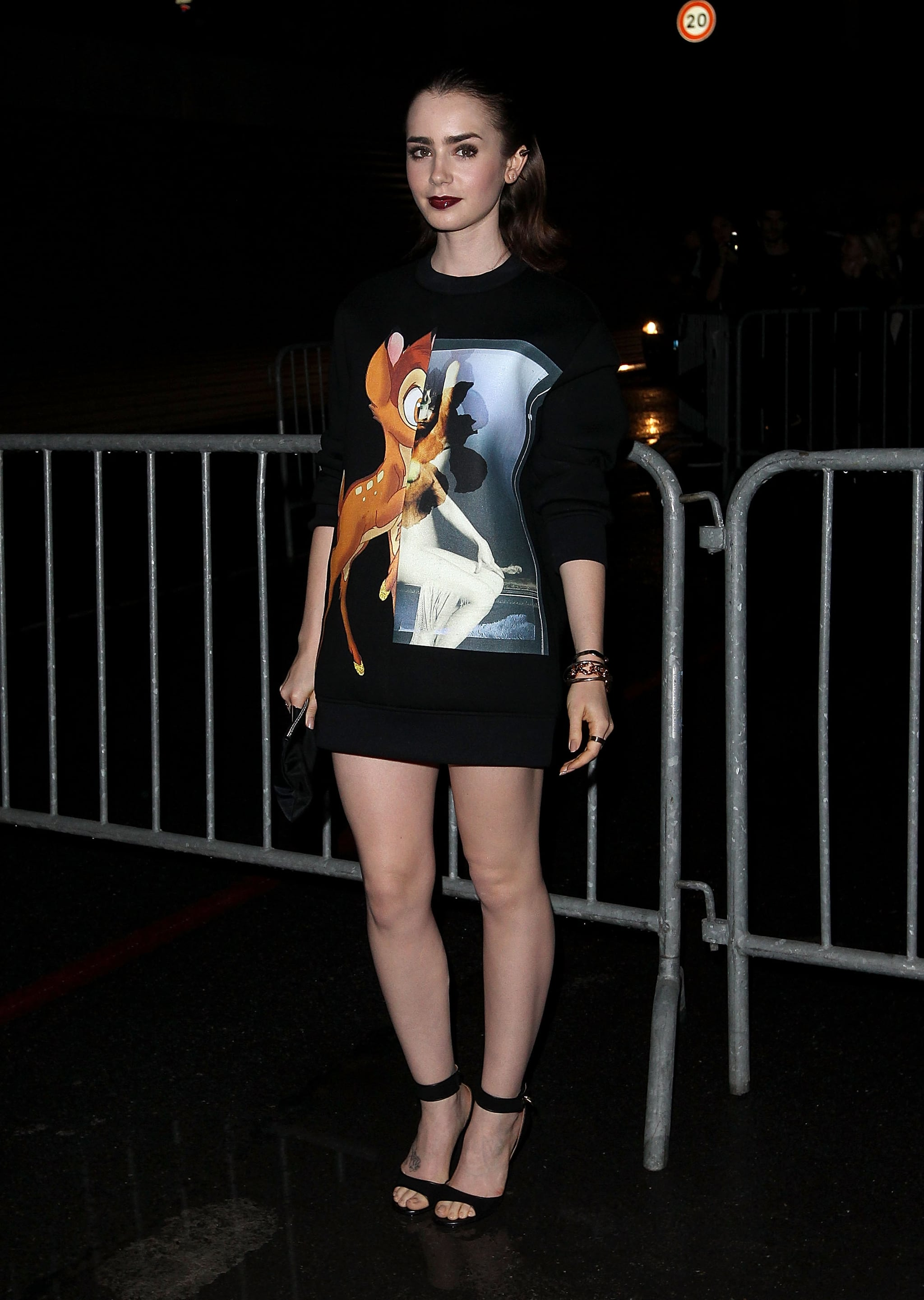 Lily Collins at the Spring 2014 Givenchy Runway Show