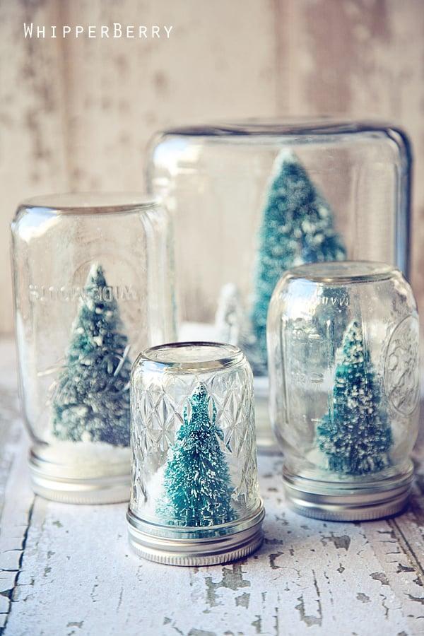 Winter Woodland Snow Globes