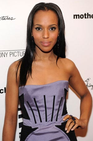 Kerry Washington Wears Zac Posen Dress and Kara Ross Ring to Mother and Child NYC Premiere