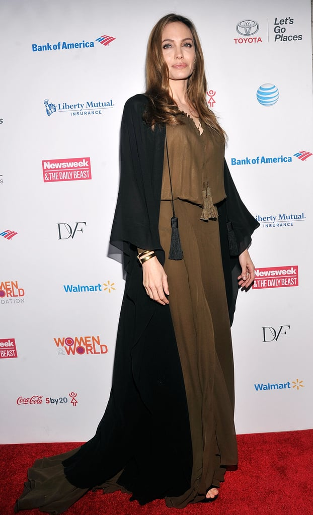 Angelina Jolie wore Saint Laurent to the event.