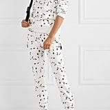 Adam Selman Sport floral-print cotton-blend fleece track pants