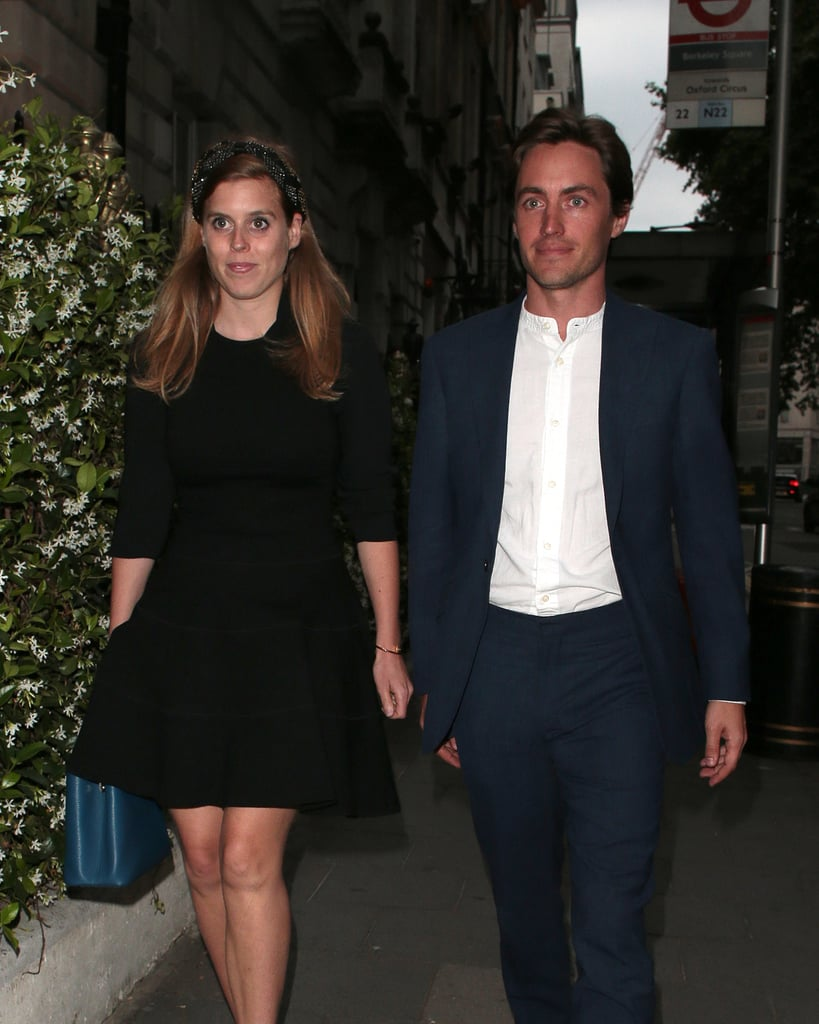"Princess Beatrice stepped out for a date night with her boyfriend, Edoardo Mapelli Mozzi, on Tuesday night and showed off a very special piece of jewellery. Beatrice wore the iconic Cartier Juste Un Clou bangle, which is designed to look like a bent nail wrapped around the wrist. The bangles start at around £2,600, but it looks like Bea wore the larger version, which retails for £5,850. However, the royal added an extra special touch to her luxury bracelet: she had the end of the ""nail"" engraved with the letter E. Unless she's feeling particularly devoted to her little sister, Eugenie, we think it's safe to say the piece is meant to be a sweet homage to her beau, and that personalisation turns this modern classic into something truly special.       Related:                                                                                                           Princess Beatrice of York Hangs With the Duchess of Cambridge, but Her Style's on Another Level               Beatrice let her new accessory do the talking on her night out in London by teaming it with a simple black fit-and-flare dress, t-bar shoes, and a chunky jewelled headband (well, she does love her headwear). Keep reading for a closer look at the whole outfit and to zoom in on that chic cuff."