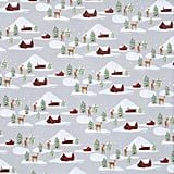 Grey Snowy Cabins Wrapping Paper