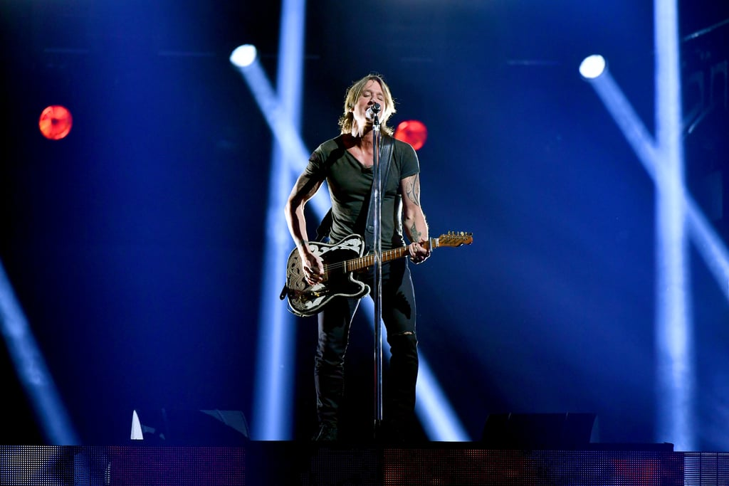 """Keith Urban gave an electric performance during the CMAs on Wednesday night, but no one was more proud than his wife, Nicole Kidman. As the country singer performed """"Never Comin Down"""" on stage, the Big Little Lies actress was spotted swaying and singing along in the audience. Aww! Whether they're walking the red carpet or swooning over each other during award shows, we can't get enough of this adorable couple. See Urban's performance (and Kidman's reaction) ahead."""