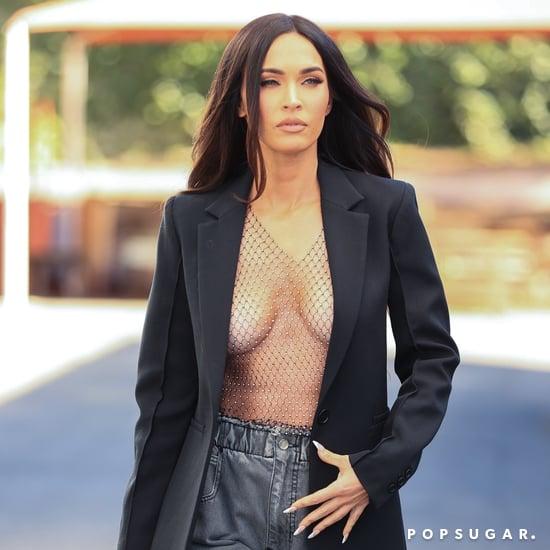Megan Fox Goes Shirtless Under Blazer After Photoshoot