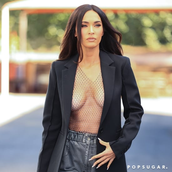 Megan Fox Goes Shirtless Under Blazer After Photo Shoot