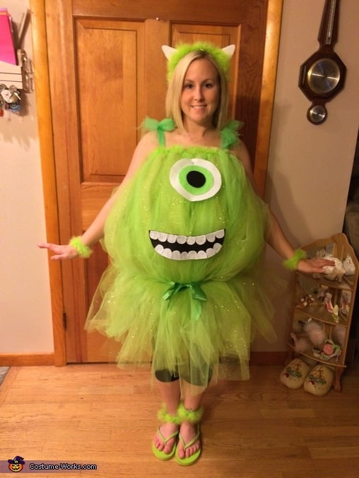 Mike Wazowski From Monsters Inc Your Favorite Pixar Characters Make Easy Diy Halloween Costumes Popsugar Smart Living Photo 10