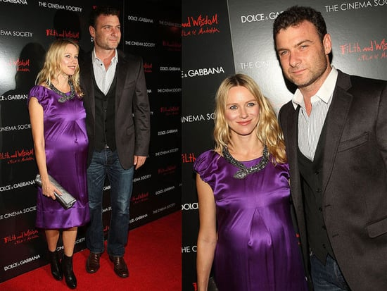 Naomi Watts Attends Filth and Wisdom premiere in NYC Wearing a Purple Dolce & Gabbana Dress