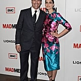 Jon Hamm posed with onscreen wife Jessica Pare.